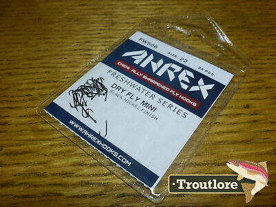 24 x AHREX FW506 #22 FRESHWATER DRY FLY MINI HOOKS NEW TYING MATERIALS
