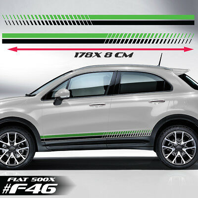 Fits Fiat 500x Side Racing Stripes Car Stickers Decals Rally Graphics Vinyl