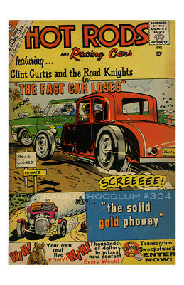 New Hot Rod Poster 11x17 Cover Art Hot Rod and Racing Cars Comic June