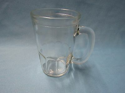 Vintage Jelly Jam Clear Glass Small Drinking Glass With Handle