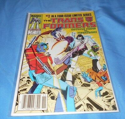 TRANSFORMERS #2 FINE MARVEL COMICS (1st SERIES 1984) NEWSSTAND