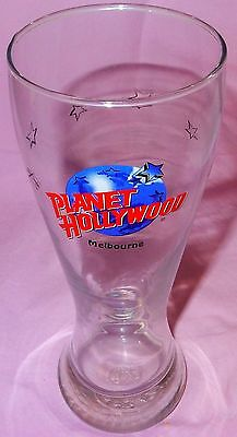 ~~ Planet Hollywood ~ MELBOURNE, Victoria, Australia ~ Tall PILSENER Beer GLASS