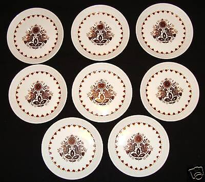 "Set Of 8 Vintage Myott Cups & Saucers ""tharaud Designs"""