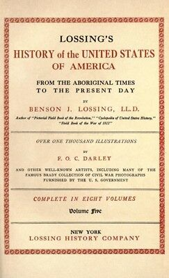 Lossing's history of the U.S.A.. 8 Volumes in Kindle epub & Pdf formats on Disc
