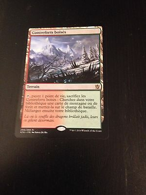 Mtg Magic Khans Of Tarkir Wooded Foothills (French Contreforts Boises) Nm