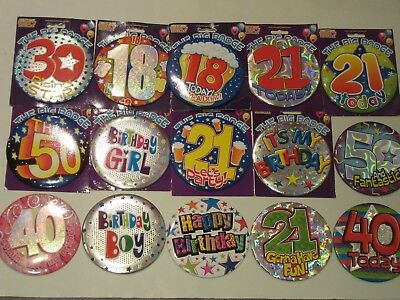 "Big Large 6"" badge Birthday"