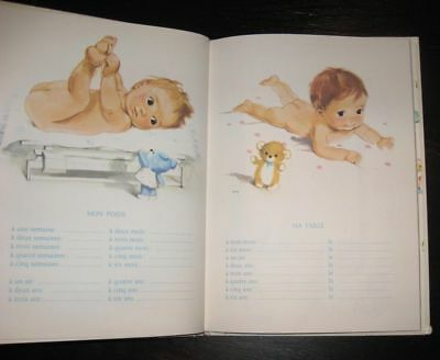 1969 never used! Baby BOOK records memories FRENCH TEXT Mon Premier Livre D'Or