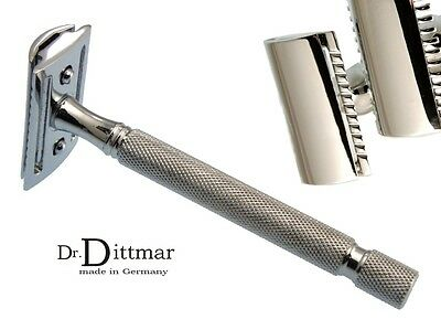 Dr.Dittmar Safety Razor Full Metal Chrome Plated Brass Open Comb Germany
