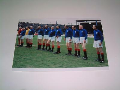 Rangers FC legends lining up at Ibrox in 1974-75 team photograph