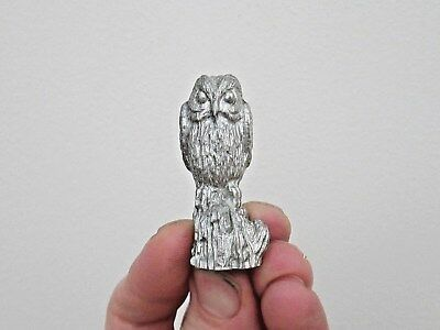 Good Quality English Silver Plate Statue Of A Wise Old Barn Owl - Fine Sculpture