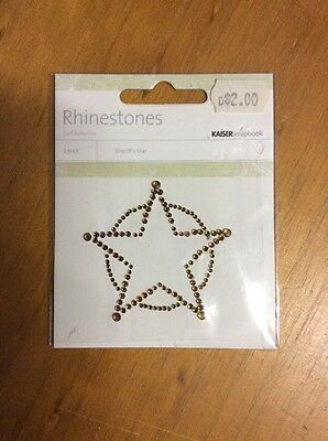 Embellishments For Craft And Scrapbooking, Sherriff's Star, Rhinestones,