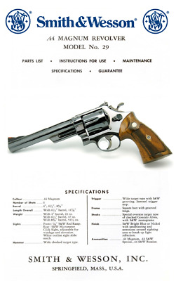 smith wesson 44 magnum model 29 revolver handgun owners manual rh picclick com smith wesson 586 manual smith wesson 686 manual