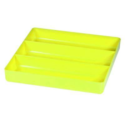 Ernst 5023HV   3 Compartment Toolbox Tray Organizer - ABS Plastic - HI-VIZ