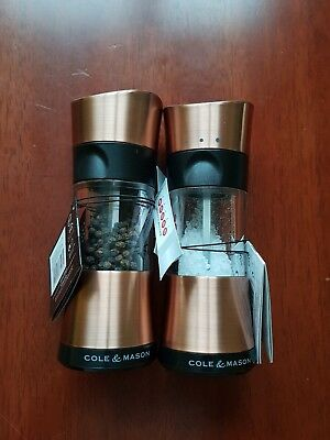 Cole & Mason Inverta Select Copper Horsham Salt & Pepper Mills Set of Two