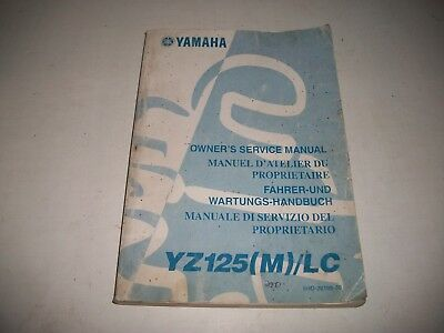 Official 2001 Yamaha Yz125(M)/lc  Motorcycle Owners  Shop Service Manual