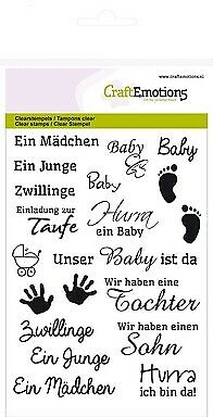 CraftEmotions clearstamps A6 - Texte Baby
