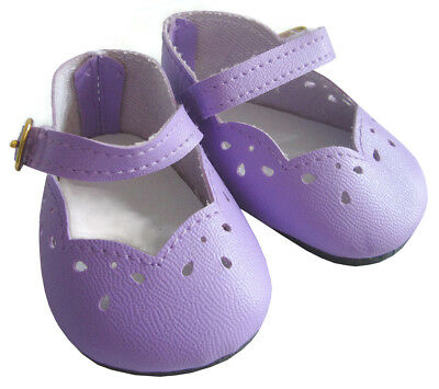 "Easter Lavender Scallop Dress Shoes for 18"" American Girl Doll Clothes"