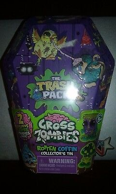 The Trash Pack Gross Zombies Rotten Coffin Collector/'s Tin Sealed /&New