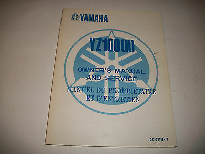 Oem Official 1983 Yamaha Yz100(K) Motorcycle Owners Manual & Service Manual