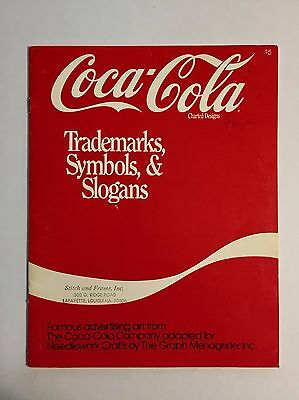 1986 Coca Cola Cross Stitch Booklet Charted Designs Trademarks Symbols & Slogans