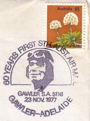 Pict.Pmk. on cover - 1977 60yrs First South Australian Airmail Gawler-Adelaide