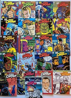 Steve Canyon Magazine #1-21 Complete Run Kitchen Sink Comix Comic Milton Caniff