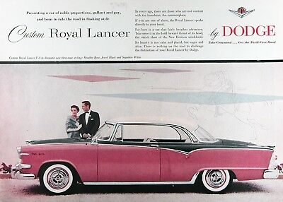 1955 DODGE ROYAL LANCER COUPE Original Vintage Advertisement ~ RARE CDN Ad