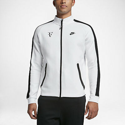 Nike Premier RF Federer N98 Men's Tennis Jacket 644780 106 White/Black Size XL