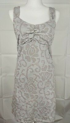 9e838d2ae8693 Free People Floral Short sleeveless sheath Dress Size XS Grey Gray lined