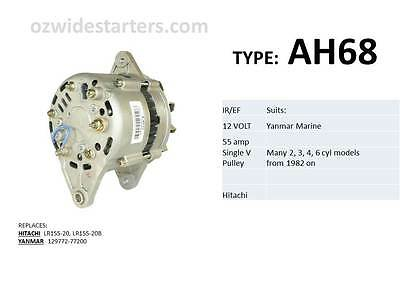 Yanmar alternator suit various 2, 3, 4, 6 cyl models from 1982 on