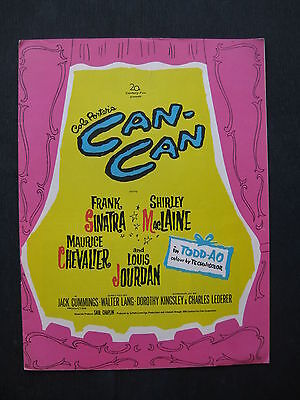 CAN-CAN 1960 Original souvenir movie programme Frank Sinatra Shirley Maclaine