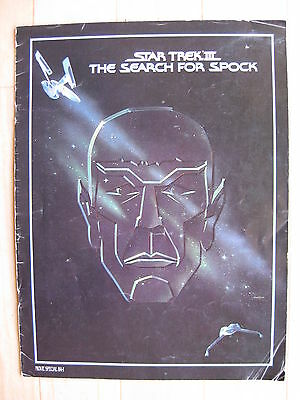 STAR TREK 3 1984 Original souvenir movie programme Leonard Nimoy William Shatner