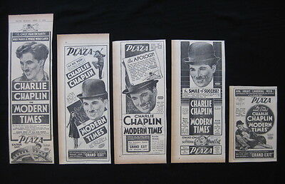 MODERN TIMES 1936 Original movie advertising Charlie Chaplin comedy classic