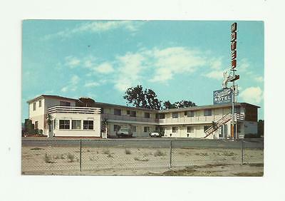 vintage postcard FRONTIER motel Mexican Border White Horse on roof.  unused