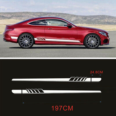 Auto Side Body Graphics Vinyl Decals Sports Racing Car Long Stripe Stickers DIY