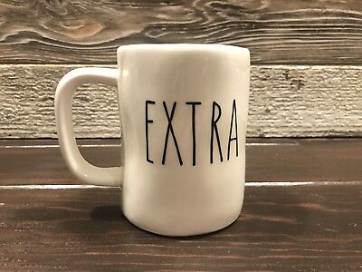 "Rae Dunn Inspired Vinyl Decal ""Extra"" Farmhouse Coffee"