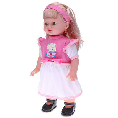 Lifelike Singing & Walking Simulation Vinyl Baby Girl Doll Kid Children Toy