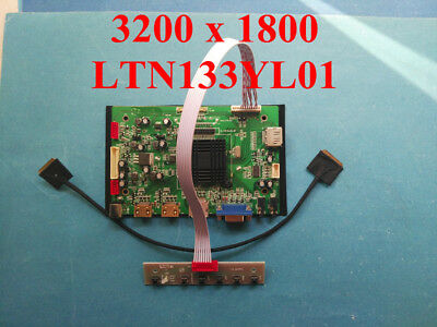 4K HDMI+DP Board for 3200x1800 LTN133YL01 LTN133YL02 LTN133YL03 LTN133YL04