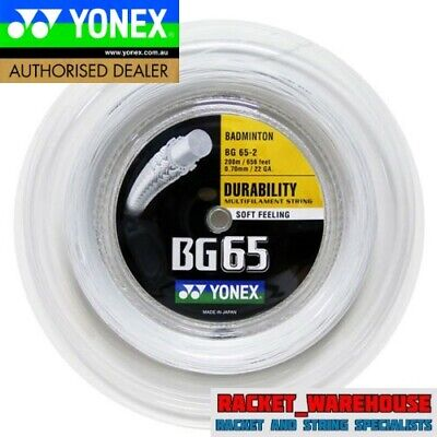 Yonex Bg65 200M Coil Badminton String White Colour Genuine