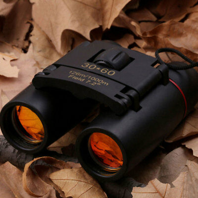 Outdoor Portable 30x60 Zoom Foldable Day Vision Travel Binoculars Telescope Red