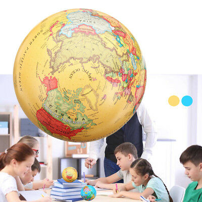 Self Rotating World Globe Earth Map LED Color Light Geography Educational Toy