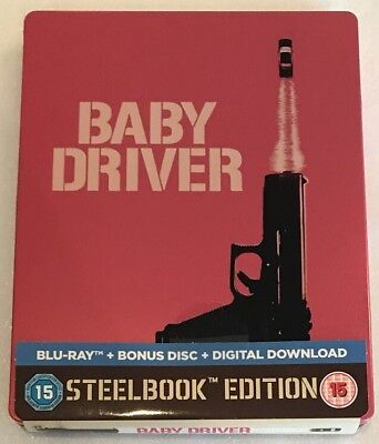 Baby Driver Steelbook - Limited Edition Blu-Ray **Region Free** *Slight Scratch*