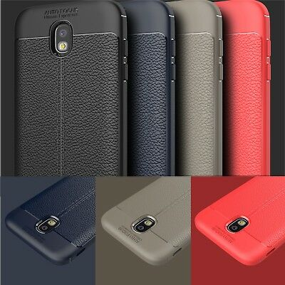 Leather Silicone TPU Bumper Back Case Cover For Samsung Galaxy J3 J5 J7 A7 2018