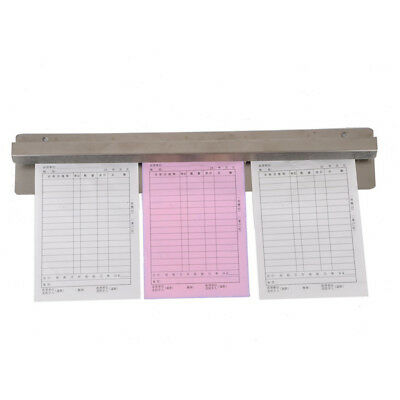 Docket Holder Stainless Steel Order Rack Invoice Check Paper Tab Ticket