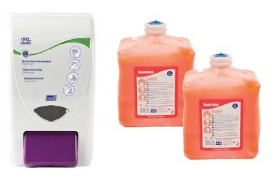 DEB Swarfega Orange 2 x 2 Liter Starter-Set Handreiniger + Industriespender