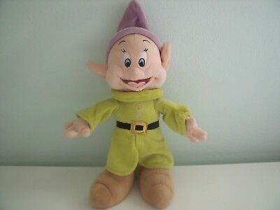 Disney Store Dopey Soft Toy From Snow White And Seven Dwarves Approx 11 Inches