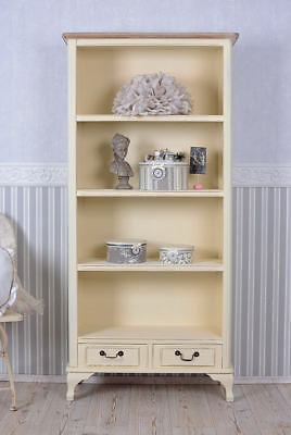 Shelf Rack Country Style Bookcase Shabby Chic Cabinet Wooden