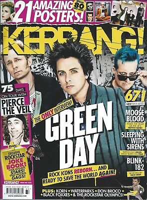 KERRANG! #1633 AUG 2016: GREEN DAY Waterparks PIERCE THE VEIL + 21 Posters