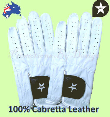 Mens Styled Golf Gloves Premium Quality 100% Cabretta Leather -4 Sizes, 2 Styles