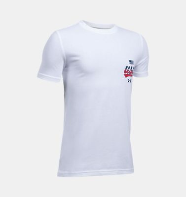 Under Armour Heat Gear UA Loose t shirt 1298057 037 L YLG Youth Boys active NEW